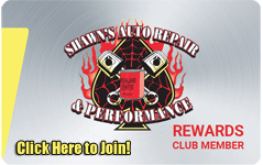 Shawn's Auto Repair and Performance Rewards Club Card